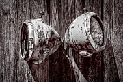Daniel Photography Art - Two Old Headlights by  Onyonet  Photo Studios