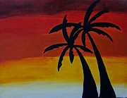 Tiffany  Rios  - Two Palms At Sunset
