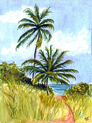Two Palms Print by Clara Sue Beym