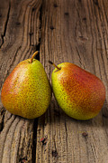Brown Pears Framed Prints - Two Pears Framed Print by Garry Gay