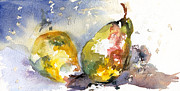 Passion Fruit Paintings - Two Pears by Jane King
