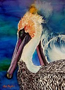 Pelican Painting Originals - Two Pelicans by Lil Taylor