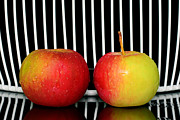 Ripe Originals - Two red apples  by Tommy Hammarsten
