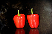 Ripe Originals - Two red peppers by Tommy Hammarsten