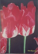 Robert Bray Metal Prints - Two Red Tulips Metal Print by Robert Bray