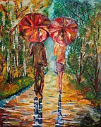 Ruslana Lev - Two Red Umbrellas