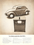 Car Ad Digital Art - Two ridiculous gimmicks of the 1940s by Nomad Art And  Design
