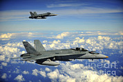 Guam Prints - Two Royal Australian Air Force Fa-18 Print by Stocktrek Images