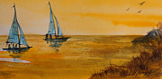 Khromykh Natalia - Two Sails At Sunset