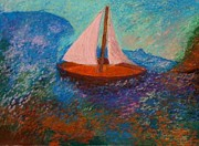 Great Pastels - Two Sails in Blue by Jon Kittleson