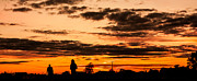 Backlit Prints - Two Silhouettes in the Sunset Print by Semmick Photo