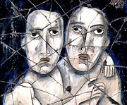 Faces Art - Two Souls - Study No. 1 by Steve Bogdanoff