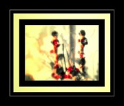 Featured Sculpture Metal Prints - Two Stalk Flower Vine Metal Print by Tracie Howard 