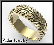 Roi Avidar - Two Tone Gold Tire Tread...