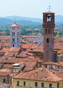 Lucca Metal Prints - Two Towers Metal Print by Jenny Armitage