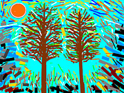 Two By Two Digital Art Posters - Two Trees Poster by Anand Swaroop Manchiraju