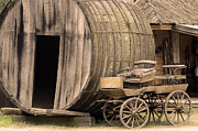 Wheel Photo Originals - Two western wagons by Tommy Hammarsten