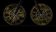 Old Objects Digital Art - Two Wheels by Fran Riley