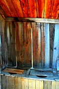 Antique Outhouse Photos - Twos Company by Lauren Hunter