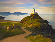 Rocky Paintings - Twr Mawr Light by James Charles