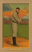 Detroit Tigers Baseball Art Framed Prints - Ty Cobb Circa 1911 Framed Print by George Pedro