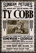 1916 Mixed Media Posters - Ty Cobb - Movie Poster Poster by Charles Ross