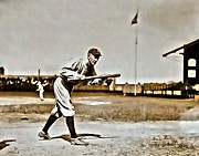 First Baseman Framed Prints - Ty Cobb Painting Framed Print by Florian Rodarte