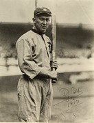 Mlb Metal Prints - Ty Cobb  poster Metal Print by Sanely Great