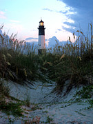 David Yunker Framed Prints - Tybee Island Light Framed Print by David Yunker