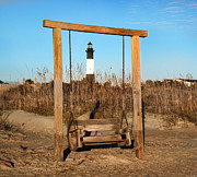 Swingset Framed Prints - Tybee Island Lighthouse Framed Print by Steven  Michael