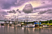 Shrimp Boats Posters - Tybee Islands Agnes Marie Poster by Reid Callaway