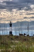 Hdr (high Dynamic Range) Framed Prints - Tybee Light Framed Print by Peter Tellone