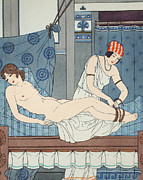 Lesbian Prints - Tying the Legs Together Print by Joseph Kuhn-Regnier