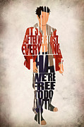 Typographic  Digital Art - Tyler Durden by Ayse T Werner
