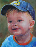 Baseball Cap Painting Prints - Tyler Print by Emily Olson