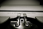 Typewriter Keys Photos - Typed Thoughts by Gregory  Kent