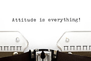 Temperament Framed Prints - Typewriter Attitude is Everything Framed Print by Ivelin Radkov