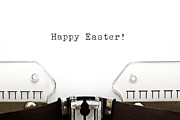 Typographic  Photos - Typewriter Happy Easter by Ivelin Radkov