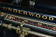 Underwood Typewriter Framed Prints - Typewriter Paper Guide Framed Print by Paul Ward