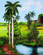 Matanzas Posters - Typical country Cuban landscape Poster by Dominica Alcantara