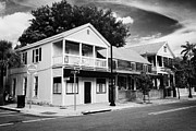 Wooden Structure Photos - Typical Key West Wooden Historic Buildings Whitehead Street Key West Florida Usa by Joe Fox