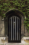Frame House Photos - Typical Old English Entrance door with ivy by Kiril Stanchev