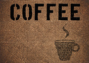 Typographic  Photos - Typographic symbol coffee on sacking by Baranov Viacheslav