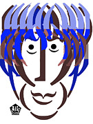 George Harrison Art - Typortraiture George Harrison by Seth Weaver
