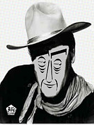 Typortraiture John Wayne Print by Seth Weaver