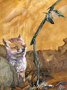 Fox Mixed Media - Tyrahs Tale by J W Baker