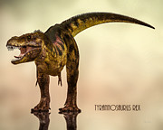 Animal Digital Art Prints - Tyrannosaurus Rex Dinosaur  Print by Bob Orsillo