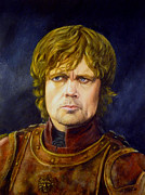 Game Painting Prints - Tyrion Lannister from Game of Thrones Print by Nancy Garbarini