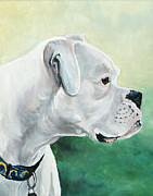 Boxer Painting Prints - Tyson Print by Charlotte Yealey