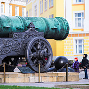Artillery Metal Prints - Tzar Cannon Of Moscow Kremlin - Square Metal Print by Alexander Senin